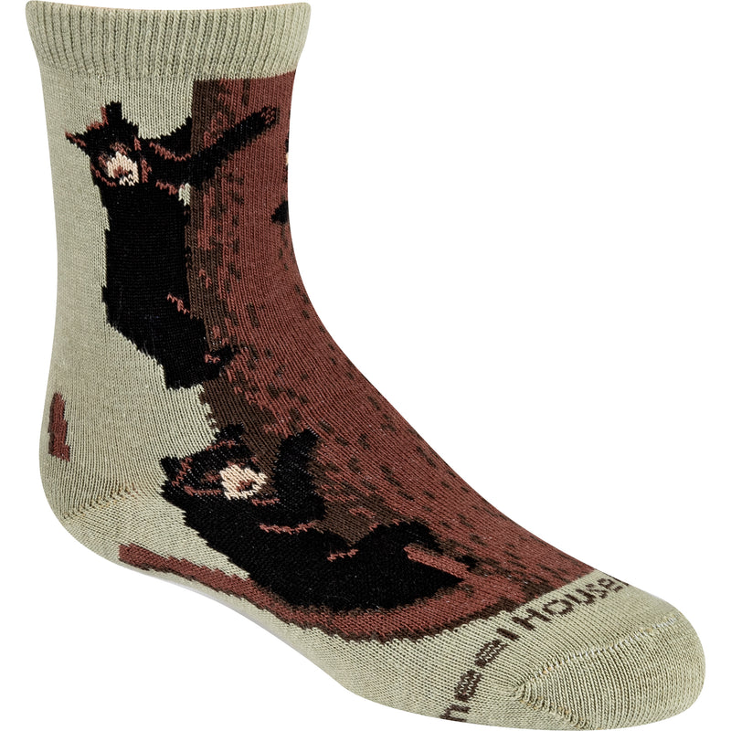 Bear Climbing Crew Socks on Stone