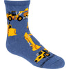 Construction Vehicles Crew Socks on Blue