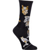 Great Horned Owl on Black Crew Socks