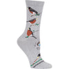 Robin Crew Socks on Grey