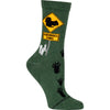 Squirrel Xing Crew Socks on Hunter