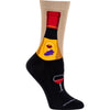 Wine Bottle Lightweight Crew Socks on Black