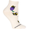 Bumblebees in Clover Anklet Length Sock on Natural