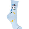 Cats & Birds Crew Sock in Light Blue