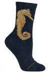 Seahorse Lightweight Crew Socks on Navy