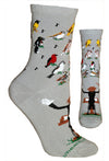 Songbird Concert Crew Socks on Gray