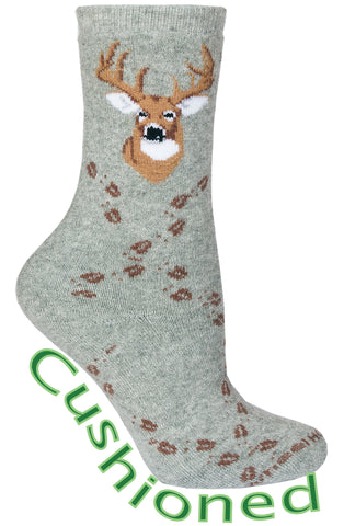 Deer Tracks on Gray Socks