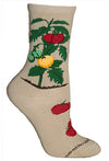 Tomatoes on Vine Crew Socks on Khaki