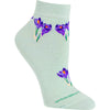 Crocus Lightweight Ankle Length Socks on Mint Green