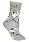 Wire Fox Terrier Crew Socks on Gray
