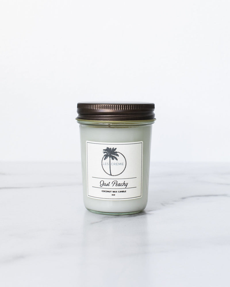Just Peachy Scent Coconut Wax Candle