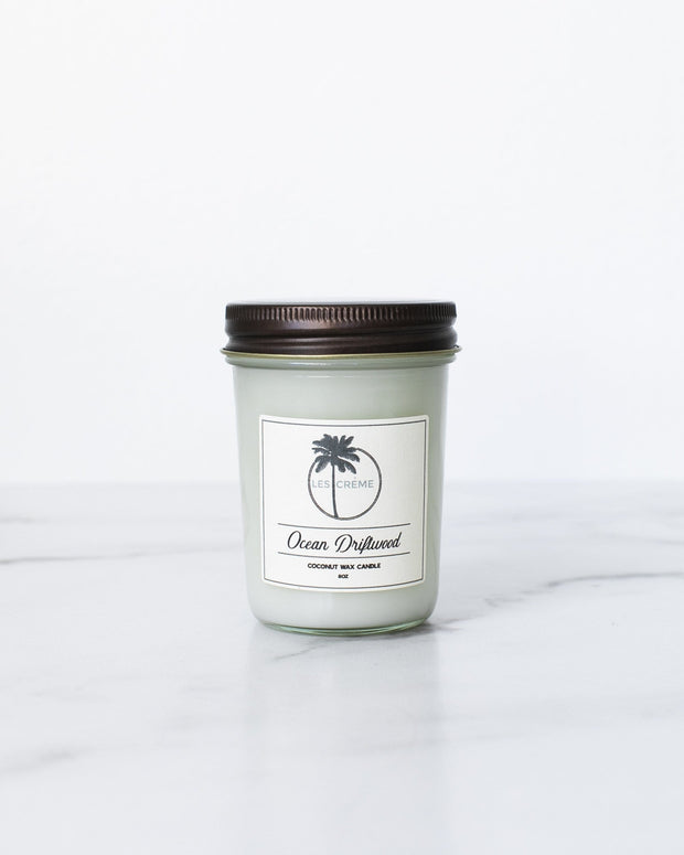 Ocean Driftwood Scent Coconut Wax Candle 1