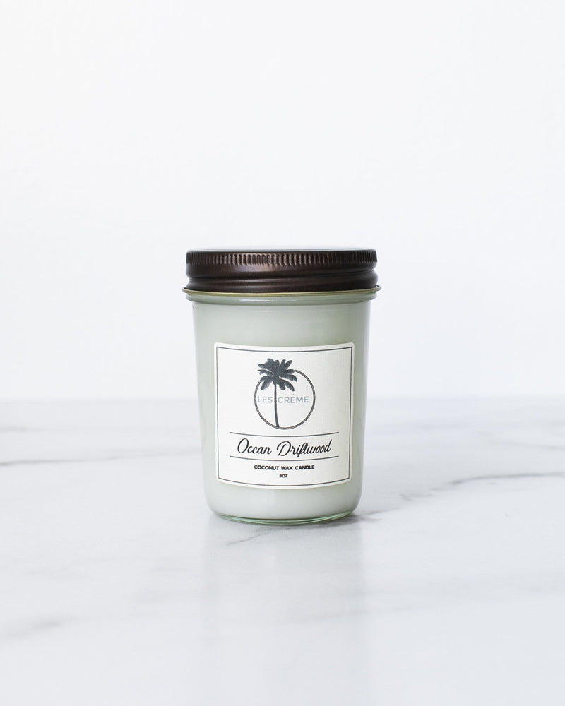 Ocean Driftwood Scent Coconut Wax Candle