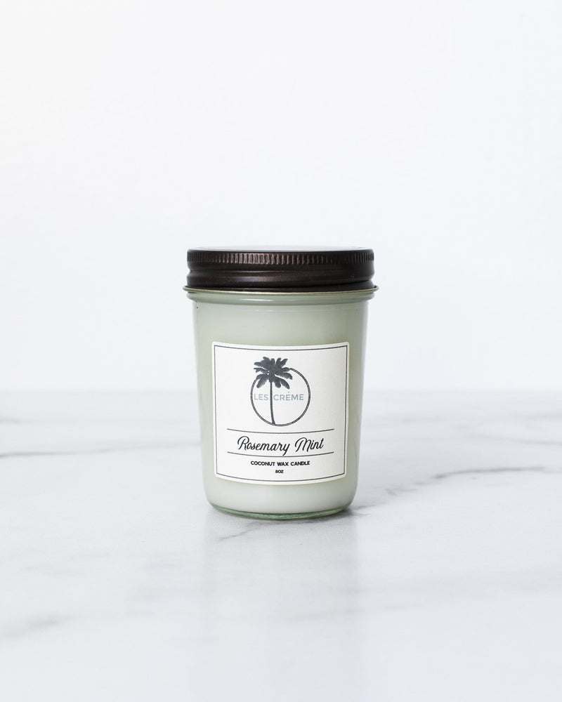 Rosemary Mint Scent Coconut Wax Candle