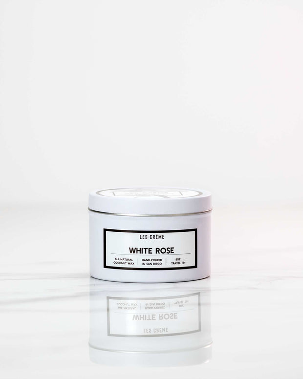 White Rose Scent Coconut Wax Candle 1