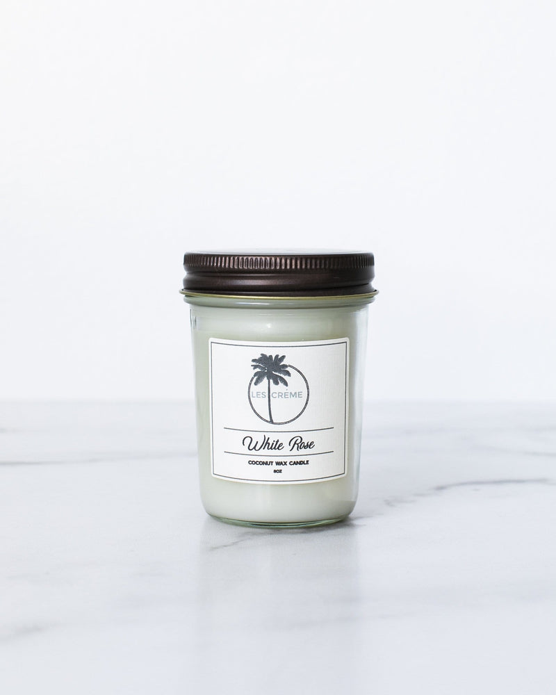 White Rose Scent Coconut Wax Candle