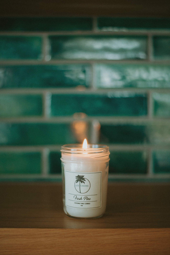Fresh Pine Scent Coconut Wax Candle