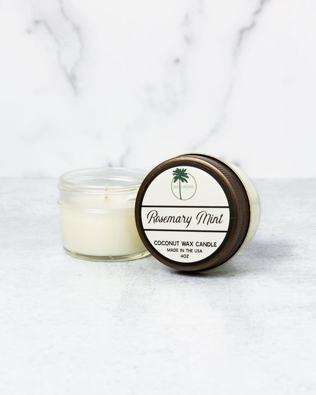 Rosemary Mint Scent Coconut Wax Candle 1