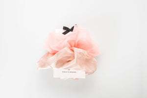 Pink Lucy Oversized Scrunchie Duo
