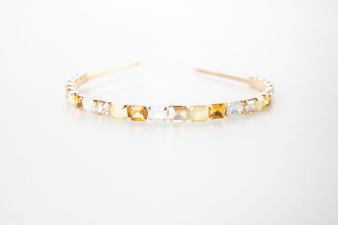 Yellow Aurora Gemstone Headband