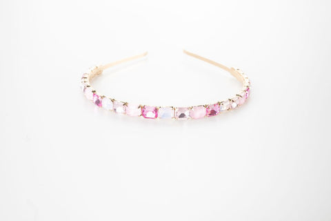 Pink Aurora Gemstone Headband