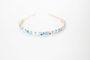 Blue Aurora Gemstone Headband