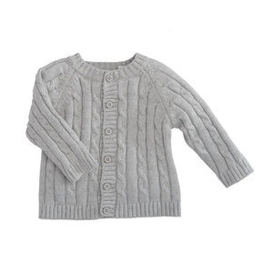 classic cable grey sweater