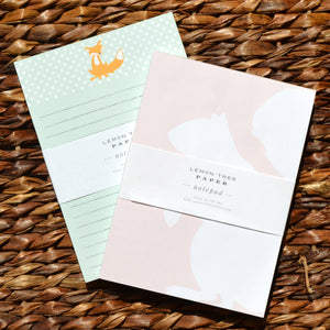 SQUIRREL AND FOX NOTEPAD SET