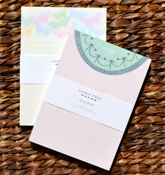 BUTTERFLY AND VINTAGE NOTES NOTEPAD SET