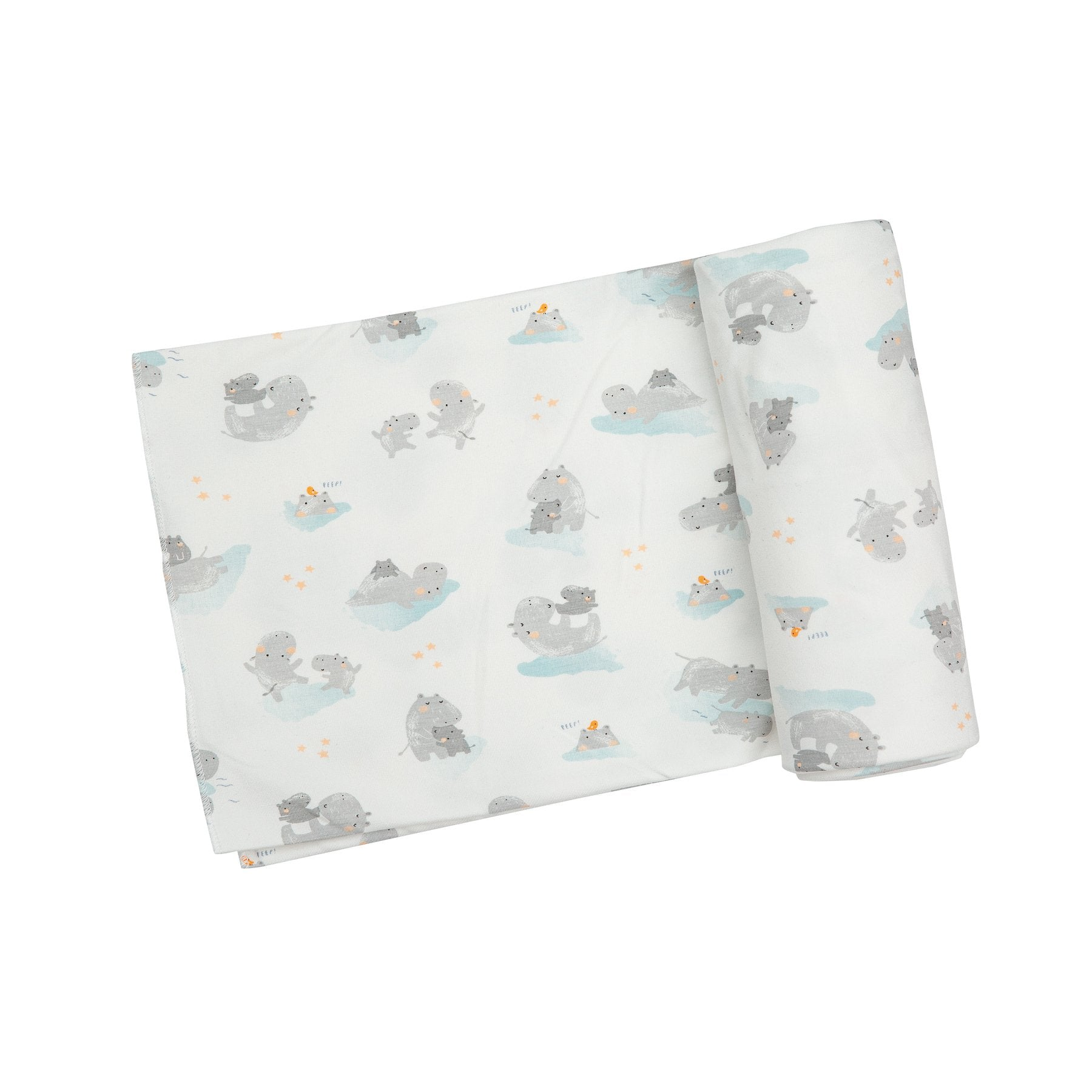 Hippo Grey Swaddle