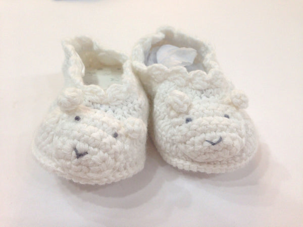 crochet lamb booties