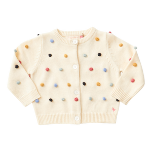 Cream with Multi Moms Cardigan