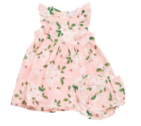 Magnolias Ruffle Dress and Diaper Cover