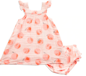 Sundress and Diaper Cover Peachy