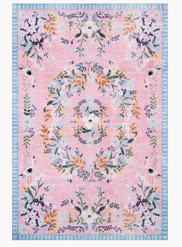 Rifle Luxembourg Printed Rug-Rose
