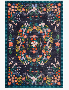 Rifle Luxembourg Printed Rug-Black