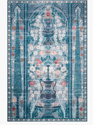 Rifle Terrace Printed Rug-Blue