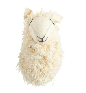 Wool and Felt Llama Head Wall Decor