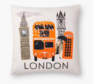 Rifle London Embroidered Pillow