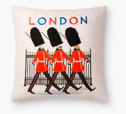Rifle Queen's Guard Embroidered Pillow