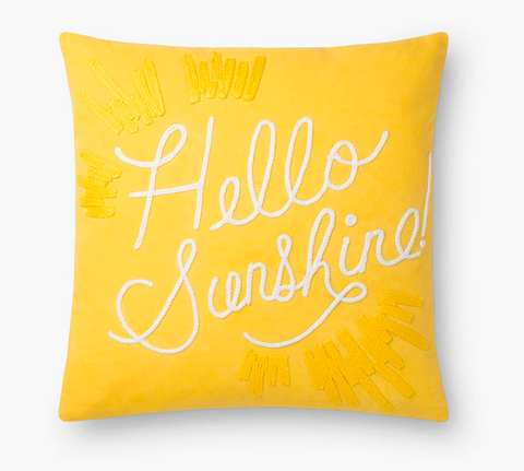 Rifle Hello Sunshine Embroidered Pillow