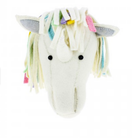 Unicorn Head with Pastel Mane Wall Decor