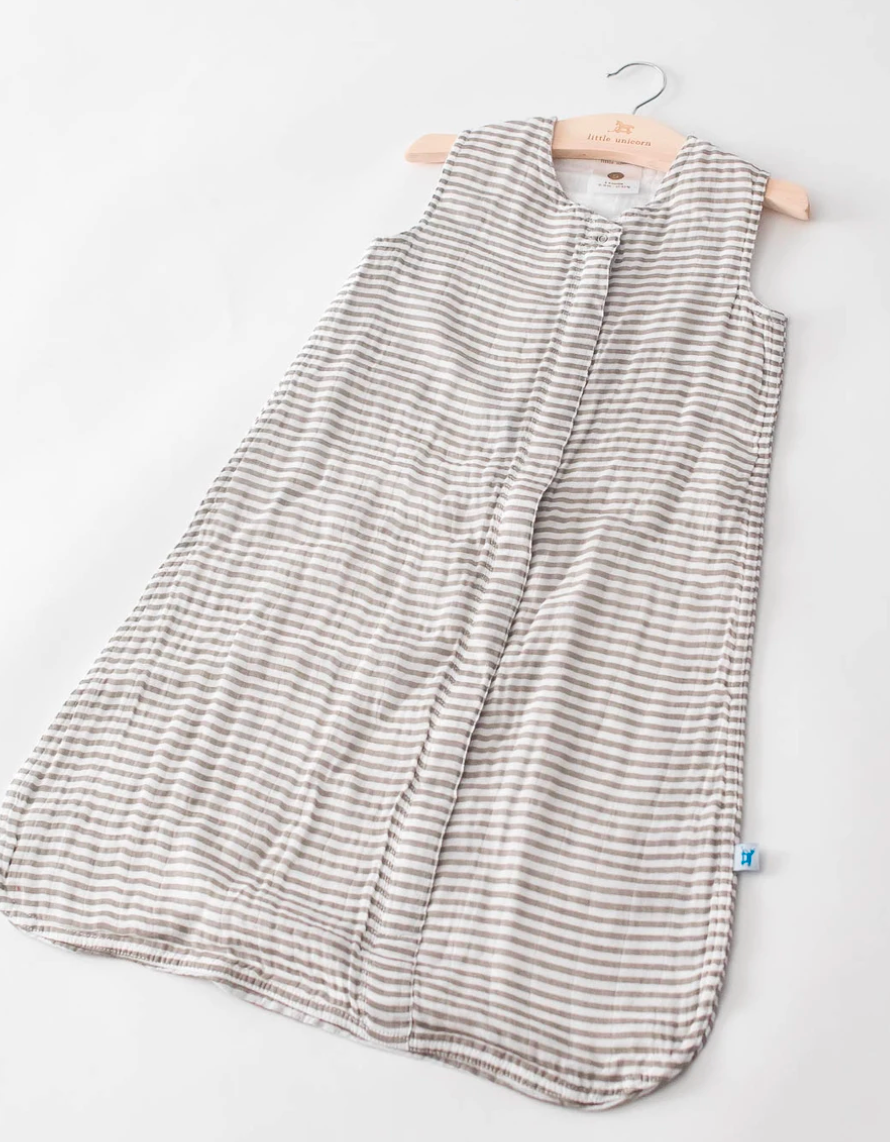 Little Unicorn Sleep Sack-Gray Stripe