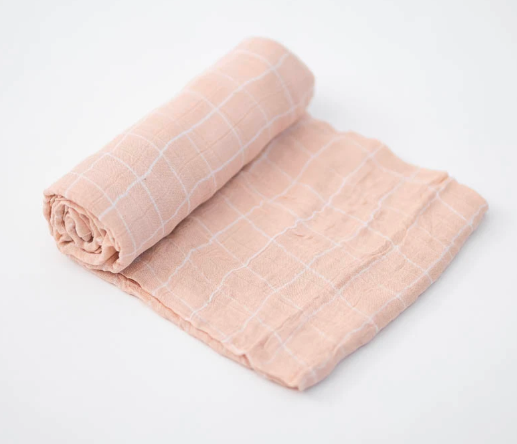 Little Unicorn Swaddle-Pink Windowpane