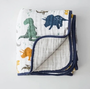 Little Unicorn Muslin Quilt-Dino Friends