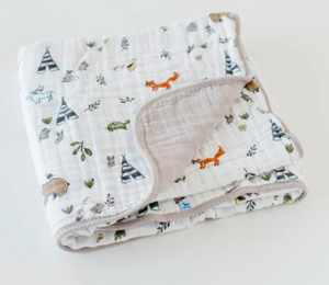Little Unicorn Muslin Quilt-Forest Friends