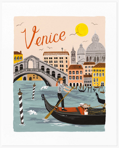 Venice World Traveler Art Print