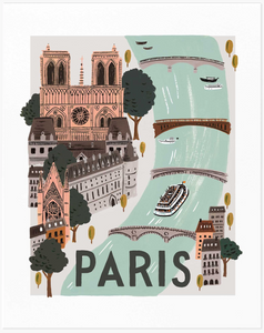 Paris World Traveler Art Print