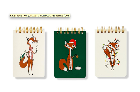 Festive Foxes Spiral Notepad Set