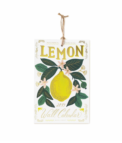 Lemon 2019 Wall Calendar
